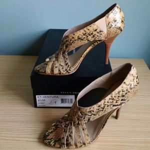 Ellen Tracy VENTURA leather heels Natural 8.5M